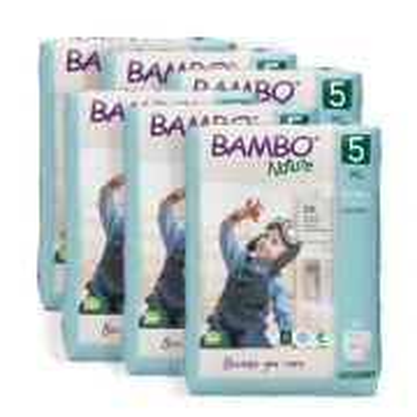 Sex förpackningar Bambo blöjor storlek 5
