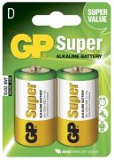 D Batteri GP Super R14 2-pack