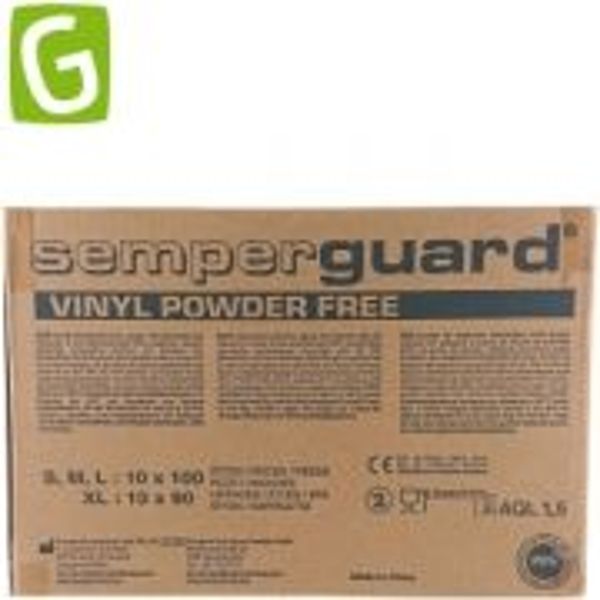 Kartong Vinylhandskar M, puderfri - 1000 st