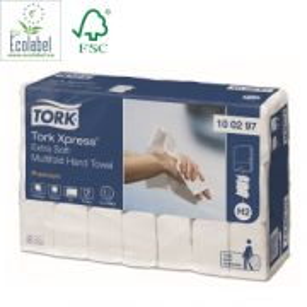 Pappershandduk TORK 2-lags Extra mjuk multifold H2 - 100297