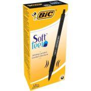 Kulpenna BIC Classic Soft Feel Clic 1,0 Svart - 12 st/frp