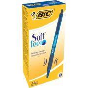Kulpenna BIC Classic Soft Feel Clic 1,0 Blå - 12 st/frp
