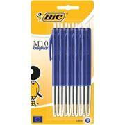 Kulpenna BIC Clic M10 1,0 Blå blis - 10/frp
