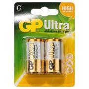 C Batteri GP Ultra R14 - 1 förpackning (2 batterier/frp s.k. 2-pack)