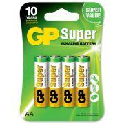 AA Batteri GP Super LR6 4-pack - 1 frp (4 batterier per förpackning)