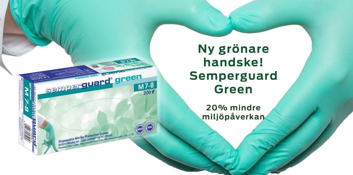 Miljövänligare handske Semperguard Green